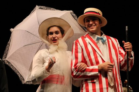 Hayley Steele and Braden Henson perform Jolly Holiday during a dress rehearsal at Norman North