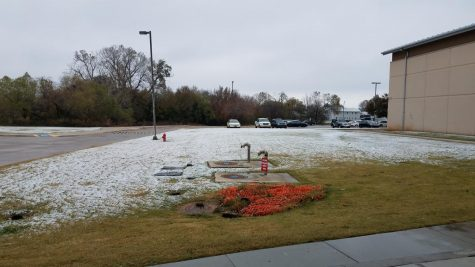 While it didn't snow that much, students were still waiting for school to be called.