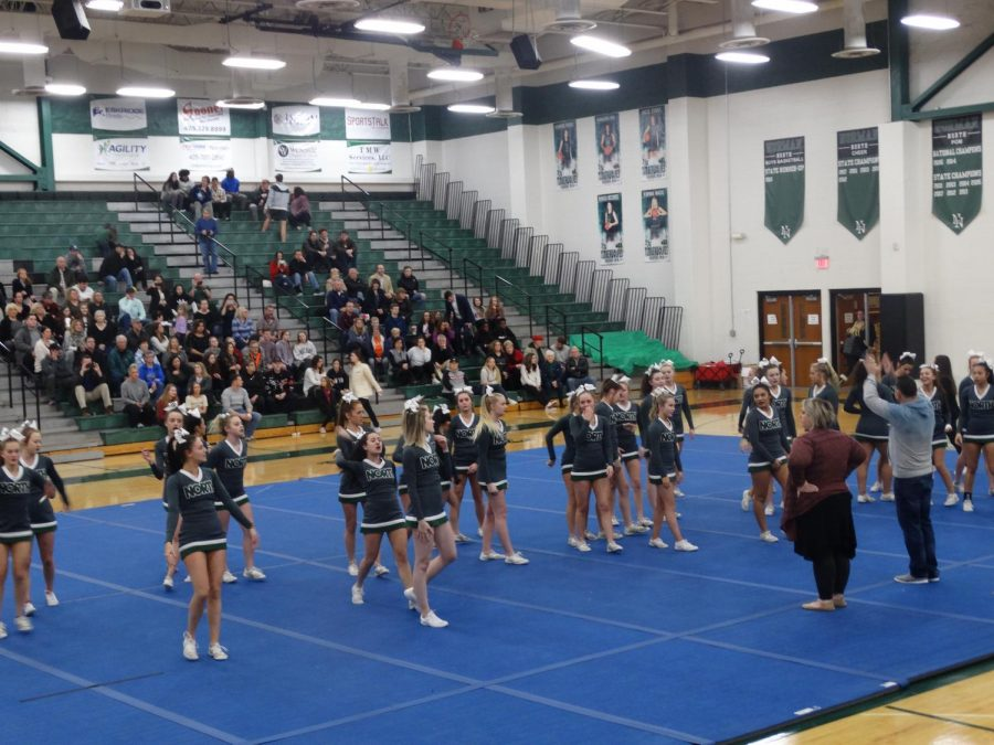 A lot of people came out to see the last cheer performance before nationals