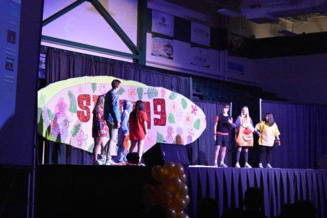 SPUD week began with a short skit performed by the SPUD committee