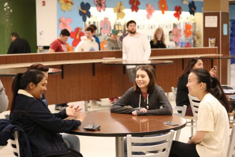 Students were also able to socialize with friends at the SPUD event