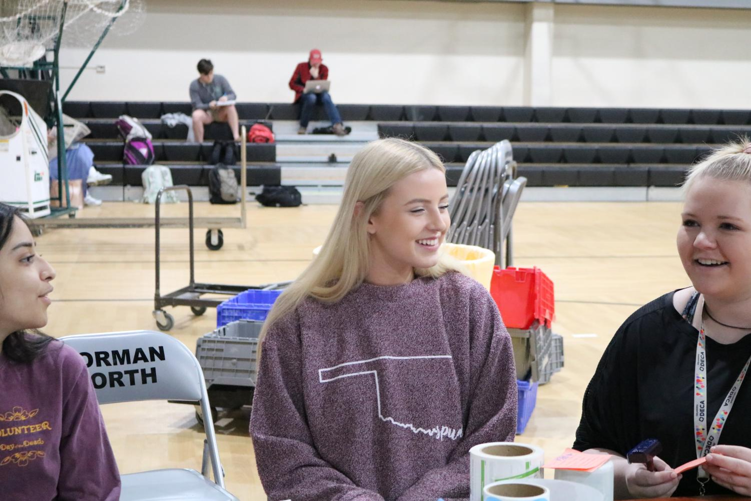 The DECA officers talked about hosting the second blood drive of the year.