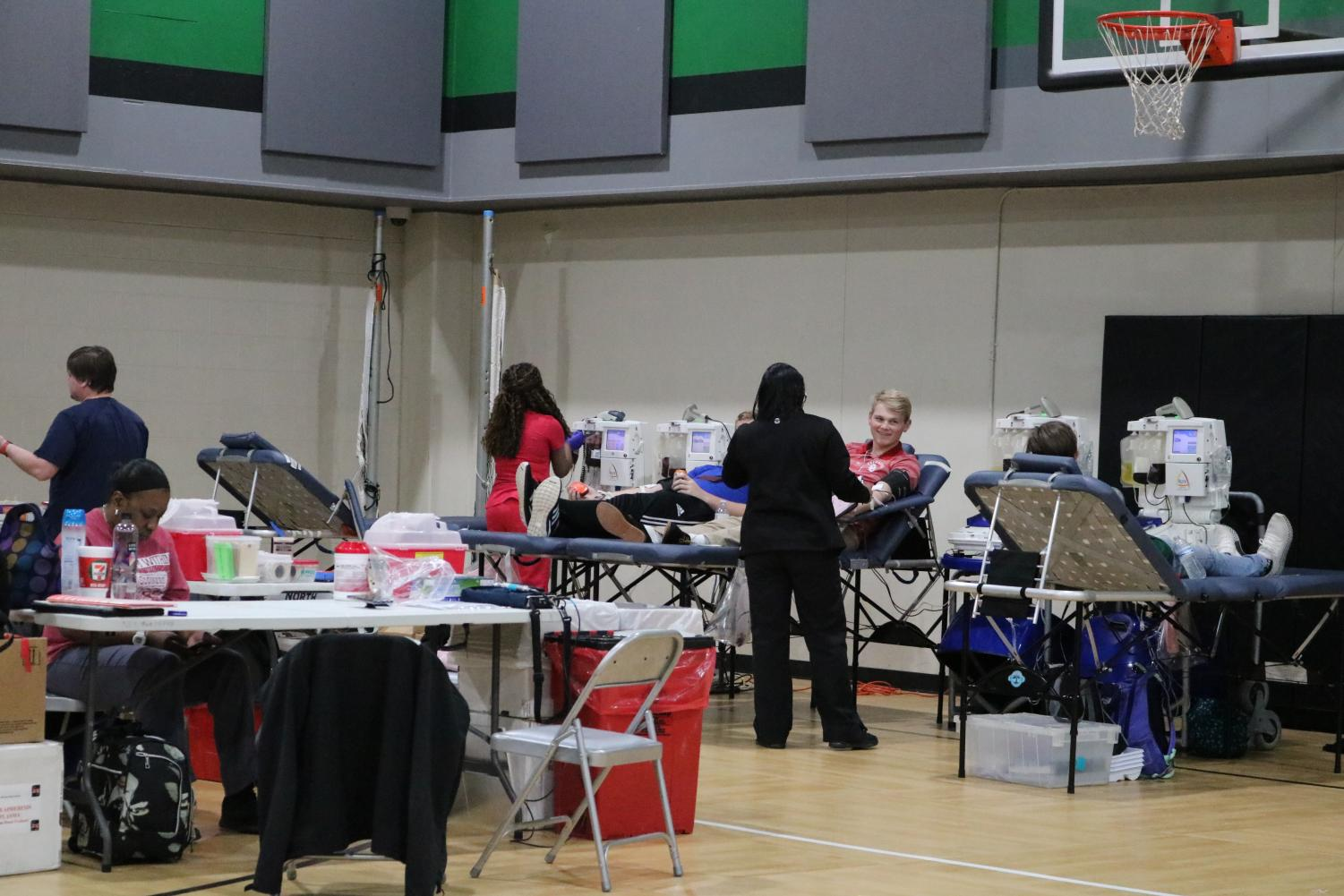 The blood drive remained busy throughout the day.
