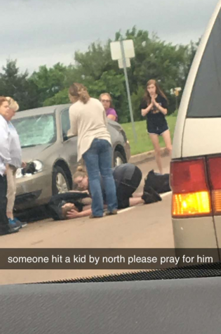 Many students sent out Snapchats calling for others to pray for their classmate