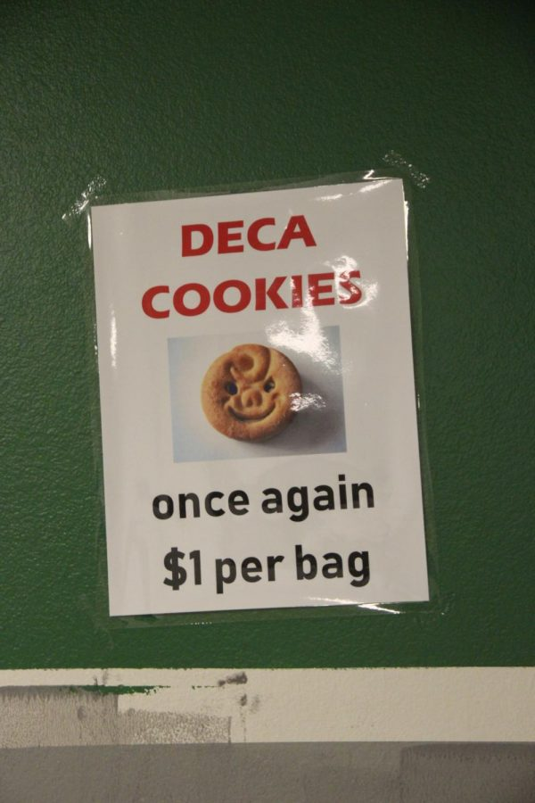 DECA poster to tell students cooke prices are back to normal.
