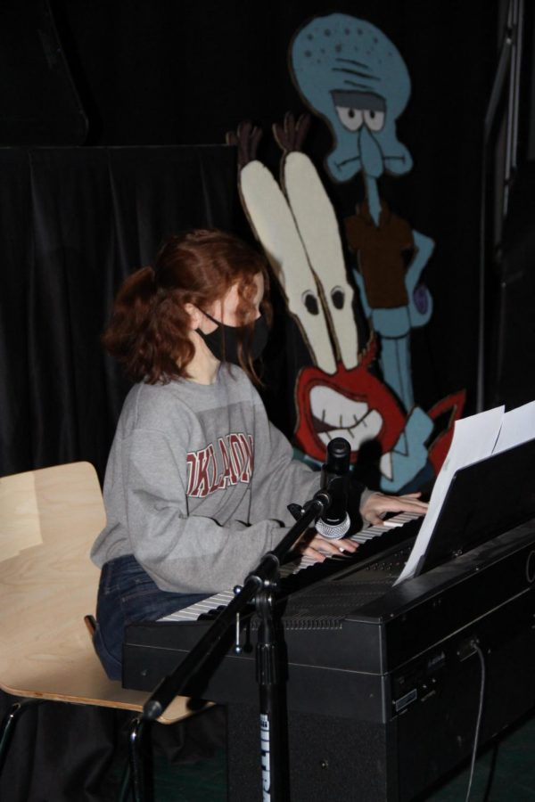 Alisa Burt during her winning performance at the talent show.