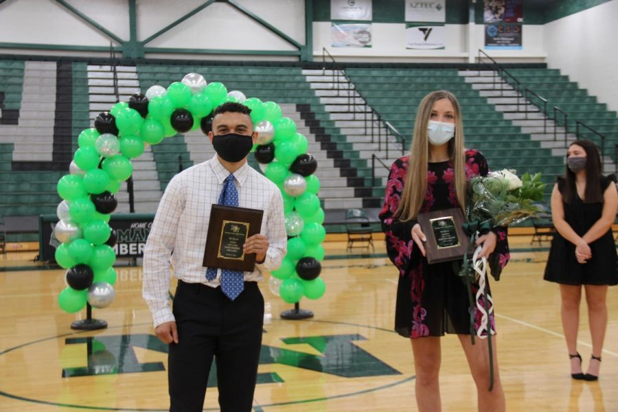 All Sports King and Queen Sam Fisher and Addie Maack, February 4th, 20/21.