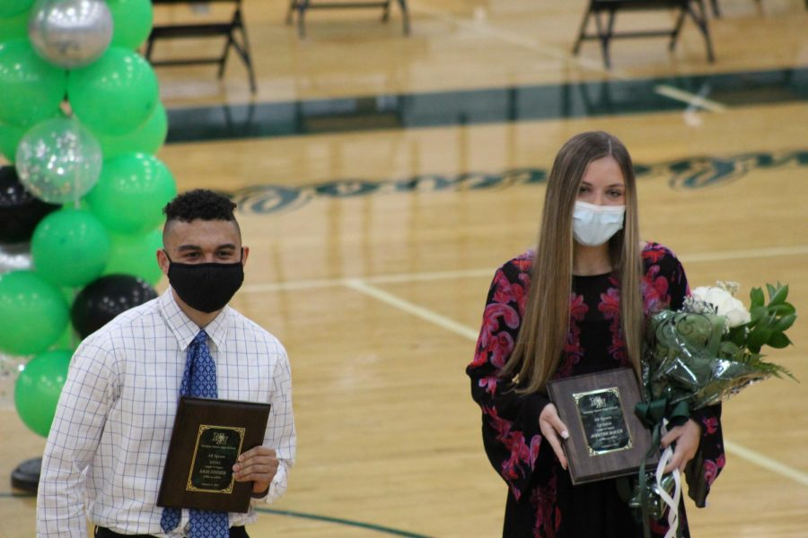 All Sports King and Queen receiving their plaques.