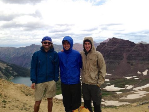 Mr. Hays (right) on his first backpacking trip in Maroon Bells, near Aspen, Colorado in 2011.