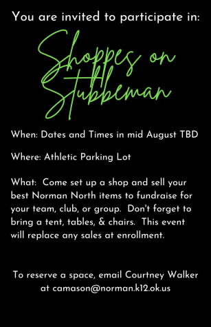 Current flyer for the Shoppe on Stubbeman event coming in August 2021.
