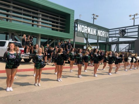 Outdoor Pep Assembly Promotes School Spirit