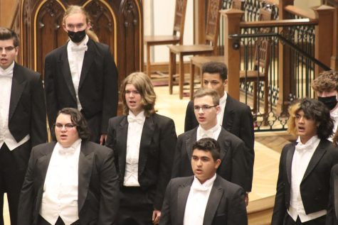 Choir singing at the chior concert.